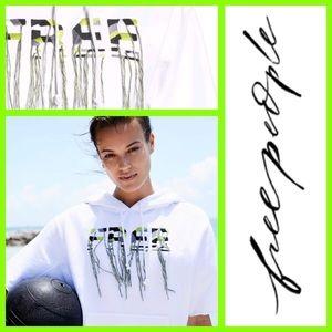 🆕 FREE PEOPLE Movement Cut Off Tassel Hoodie XS